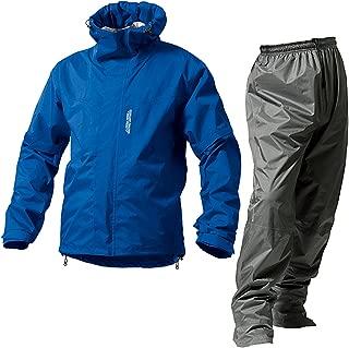 マックレインウェア(MAKKU RAIN WEAR)  DUAL ONE (デュアルワン) 耐久防水レインスーツ ウエア:マットブルー/パンツ:グレー S AS-8000
