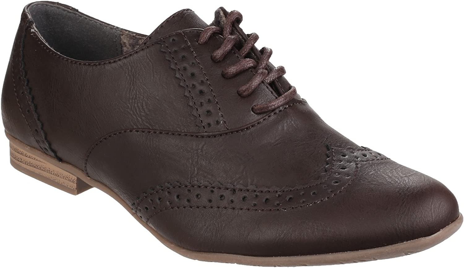 Divaz Womens Ladies Levato Lace Up Perforated Brogues