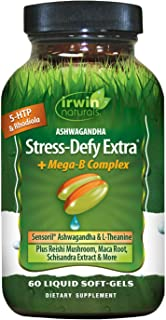 Irwin Naturals Stress-Defy Extra Plus Mega B-Complex - Potent Adaptogens Support a Balanced, Positive Mood - Calm & Focuse...