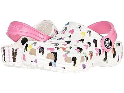 Crocs Kids Classic Heart Print Clog (Toddler/Little Kid/Big Kid) Girl