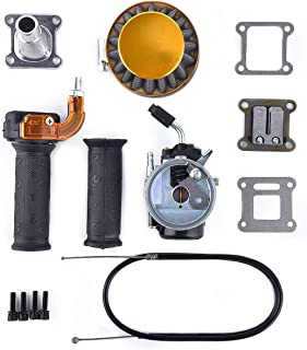 Carburetor Air Filter Assembly Compatible with 2 Stroke 47cc 49cc Mini Pocket Bike Quad Chopper ATV Yellow