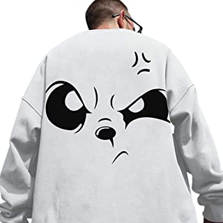 XYXIONGMAO Angry Expression Round Neck Sweatshirt Graphic Oversized Hoodie Sweater Men