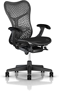 Herman Miller Mirra 2 Task Chair: Tilt Limiter w/Seat Angle Adjustment - FlexFront Adj Seat Depth - Adj Lumbar Support - TriFlex Back - Adj Arms - Graphite Base & Frame