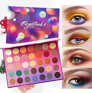 Eyeseek Colorful Eyeshadow Palette 35 Colors High Pigmented Makeup Palette Metallic And Shimmer Eyeshadow Pallet Easy To B...