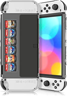 PC Case Protector for Nintendo Switch OLED Model, Anti-Scratches One-Piece Protective PC Cover Shell Case for OLED Model C...