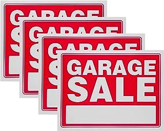 Cartel de venta de garaje Red Yard Sales Street Signs por Ram-Pro – 9 x 12 pulgadas plástico Banner etiquetas para invierno, Navidad, Black Friday, día festivo de la venta (Paquete de 4)