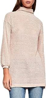 Women's Funnel Neck Tunic Long Sleeve Knit Top