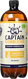 comprar comparacion Captain Kombucha Pineapple Peach Splash, Té de burbuja - 1000 ml.