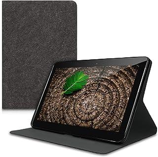 kwmobile 1x Funda de Fieltro Estilo Cartera Compatible con Samsung Galaxy Tab 2 10.1 P5100/P5110 - Estuche abatible en Gris Oscuro
