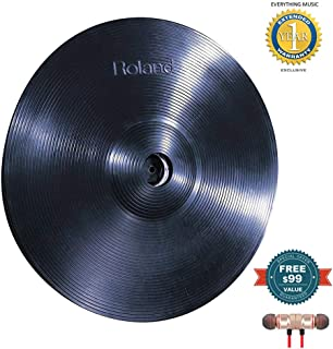 Roland CY-15R 15-inch V-Cymbal Ride Blackincludes Free Wireless Earbuds - Stereo Bluetooth In-ear and 1 Year Everything Music Extended Warranty