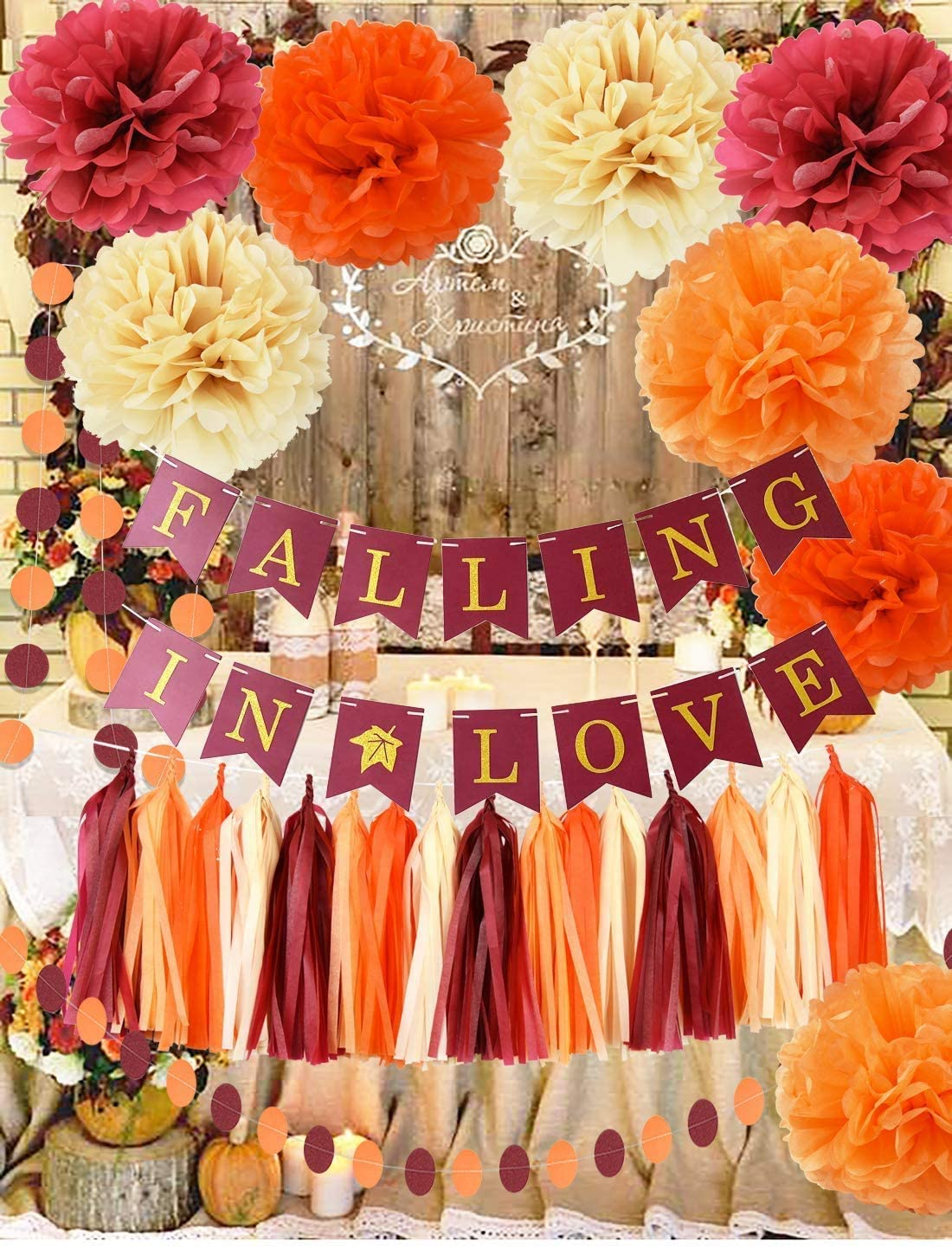 Super beauty product restock quality top! Fall Memphis Mall Bridal Shower Decorations Wine Champagne Orange Burgundy F
