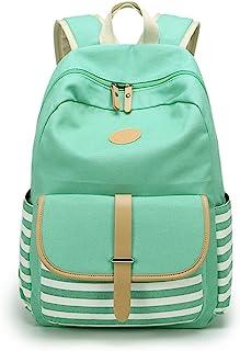 Leaper Canvas School Backpack for Girls Laptop Bag Travel Bag Bookbag Daypack