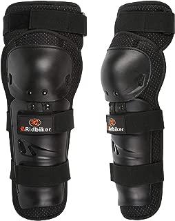 RIDBIKER 1 Pair of Motorcycle Knee Protector,Movable Knee Shin Guard PadsAdjustable Knee Cap Pads Protector Armor for Motorcycle Cycling Racing,Black