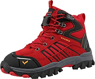 Kid's Boots Outdoor Snow Boots Hiking Walking Winter Boots Slip Resistant Trekking Shoes for Boys and Girls(Toddler/Little Kid/Big Kid)