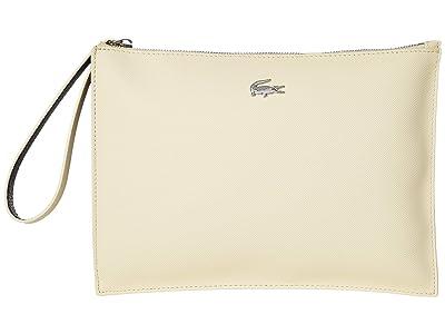 Lacoste Anna Clutch (White/Grey Wash/Cord) Clutch Handbags