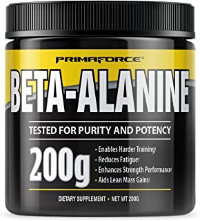 PrimaForce Beta-Alanine Powder Supplement, 200 Grams – Enables Harder Training / Improves Muscle Gains / Increases Workout...