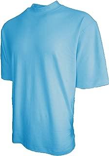 Good Life 100% Cotton Mock Turtleneck Shirt Short Sleeved Pre-Shrunk 4 Colors