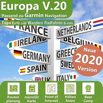 Topo*Europa*Karte*Garmin*Dakota 20*Etrex 20//30*Montana