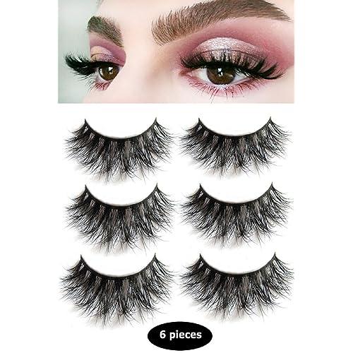 7111b0c0f46 3D Mink False Eyelashes-Dramatic Makeup Strip Eyelashes 100% Siberian Fur  Fake Eyelashes Hand