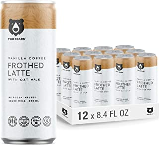 Sponsored Ad - Two Bears Frothed Vanilla Oat Milk Latte (12-Pack, 8.5oz Cans), Nitrogen-infused Cold Brew Coffee Drink | C...