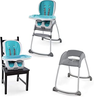 Ingenuity Trio 3-in-1 Smartclean High Chair - Aqua, Blue