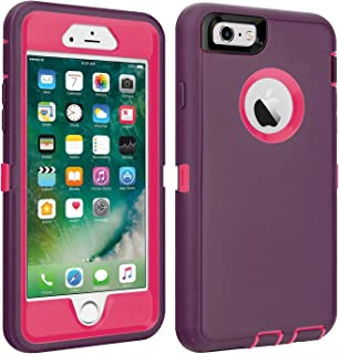 iPhone 6/6S Case Shockproof High Impact Tough Rubber Rugged Hybrid Case Silicone Triple Protective Anti-Shock Shatter-Resistant Mobile Phone for iPhone 6/6S 4.7