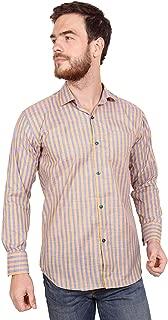 Oshano Cotton Strip Full Sleeve Casual Shirt for Men