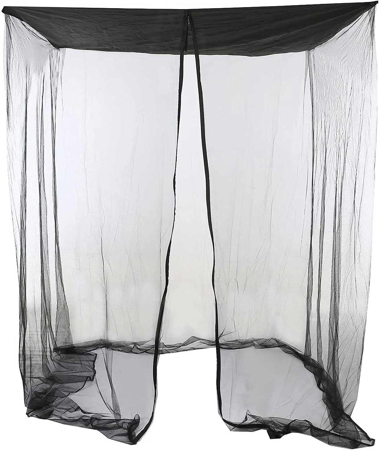 K-Park Swing Bug Netting Mesh Screen con apertura de cremallera y techo impermeable tienda rectangular cortina refinada