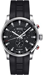 Mido M0054171705120 Sapphire Crystal Men窶冱 Multifort Watch Black/Silver