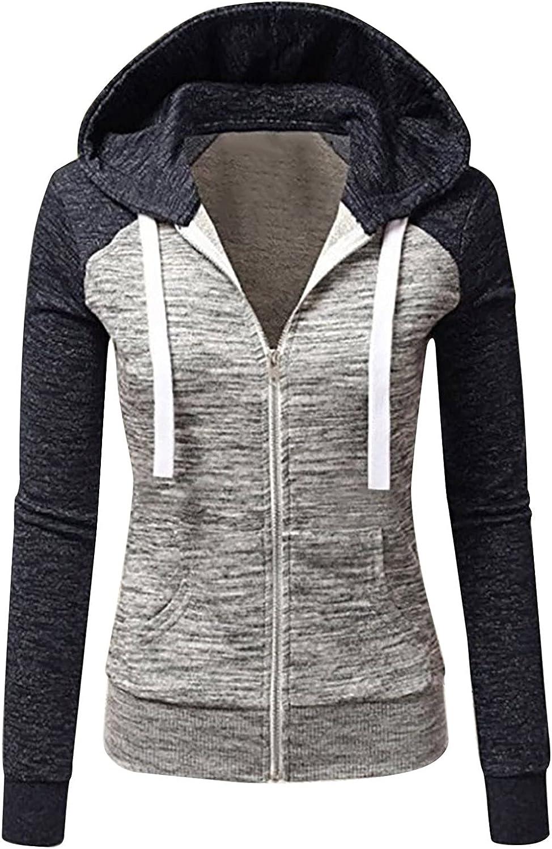 Crazylover Surprise price Women Casual Hoodie Elegant Sweatshirt Long Sleev Color Block