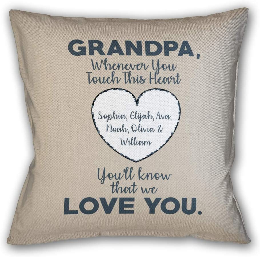 Personalized Decorative Throw Pillow New Max 67% OFF color with Papa for Dad Gr Insert