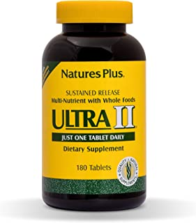 NaturesPlus Ultra II Multivitamin, Sustained Release - 180 Vegetarian Tablets - Daily Whole Food Vitamin & Mineral Supplem...