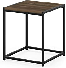 FURINNO Camnus Modern Living End Table, Columbia Walnut