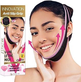 Face Slimming Strap for Double Chin – Reusable V Line Face Lifting Mask Cheek Lift Up Band Facial Lifting Belt Chin Up Pat...
