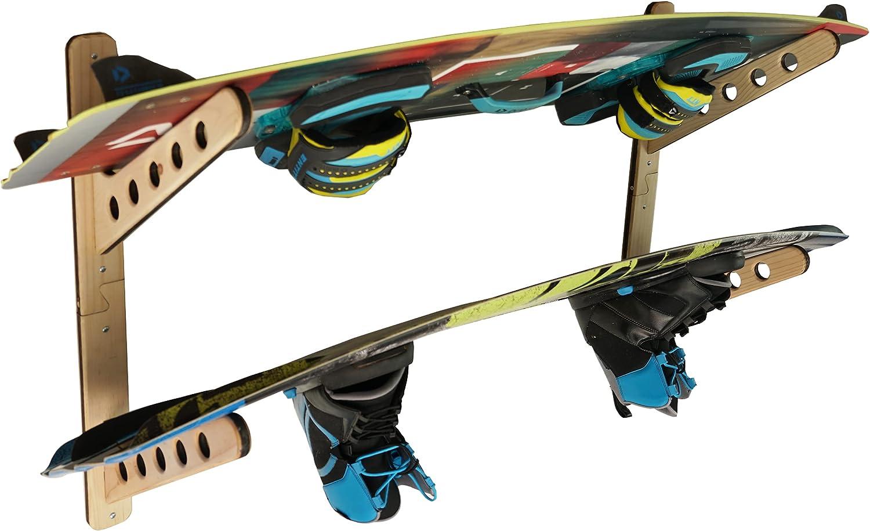 STAUBER Sports shopping Best Board Storage Hanger Wood Horizonta Max 86% OFF Rack