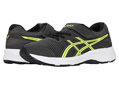 ASICS Kids GEL-Contend 6 (Toddler/Little Kid) (Graphite Grey/Safety Yellow) Boys Shoes