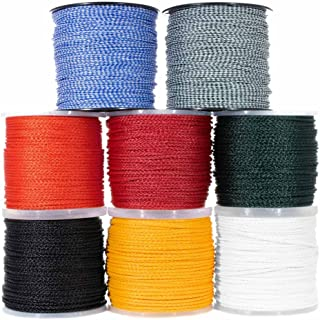 Hollow Braid Polypropylene Rope (1/4 Inch, 500 Feet, White) - Barrier Rope - Trail Marking, Crowd Control, Golf Courses