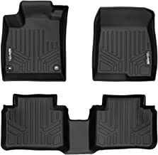 SMARTLINER Floor Mats 2 Row Liner Set Black for 2018 Honda Accord Sedan
