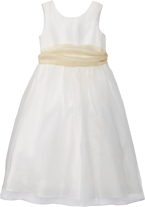 Us Angels Big Girls' Dress Ivory Ranking Dedication TOP9 Sash with