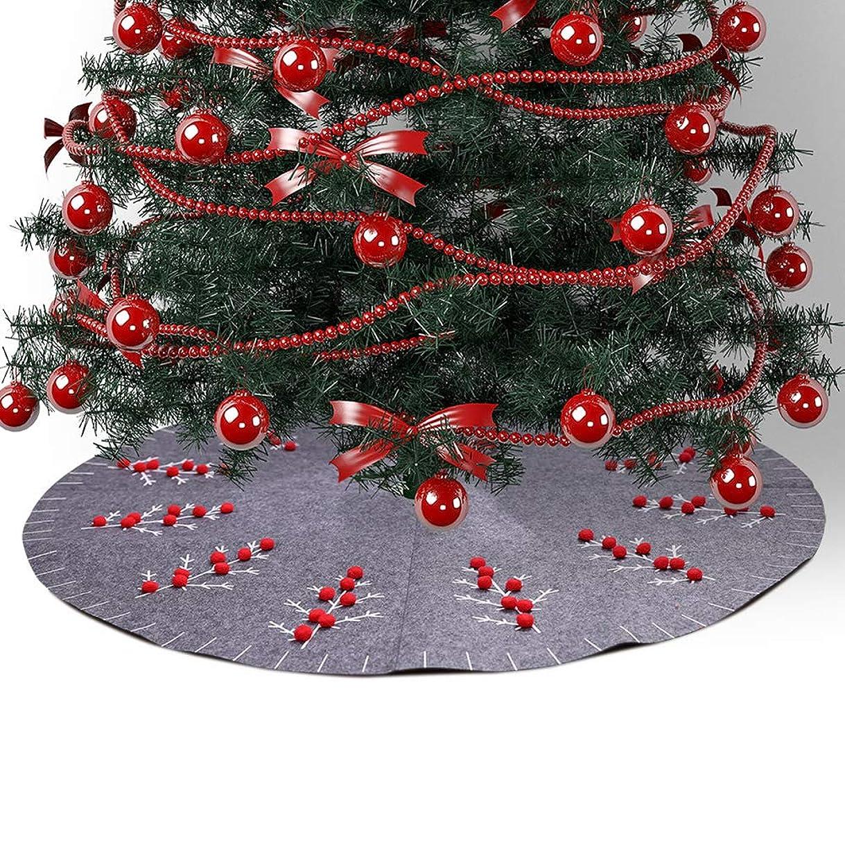戦闘弁護士かろうじてACHICOO クリスマス装飾 マット用 グレー クリスマスツリースカート 雰囲気作り