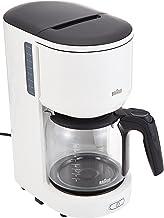Braun KF 3100 WH filterkoffiezetapparaat | koffiezetapparaat voor 10 kopjes filterkoffie | druppelstop | OptiBrew System |...