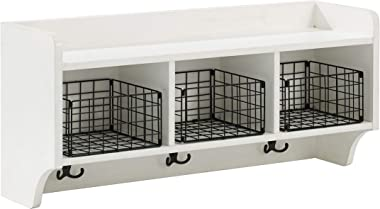 Crosley Furniture  Fremont Entryway Shelf, Distressed White