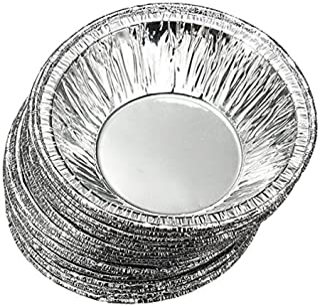 250 Pcs Disposable Kitchen Baking Circular Egg Tart Tins Cake Cups Mould Makers Cake Cups Foil Tart Pie Pans (Silver)