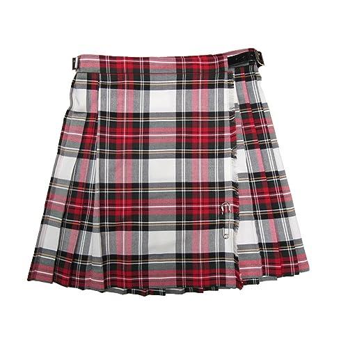 Tartanista Girls Green Tartan Katie Kilt Skirt