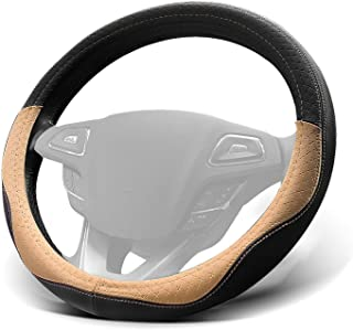 Win Power Car Steering Wheel Cover Universal 38cm 15 inches Soft Microfiber Leather Odorless, Breathable, Anti Slip and Sn...