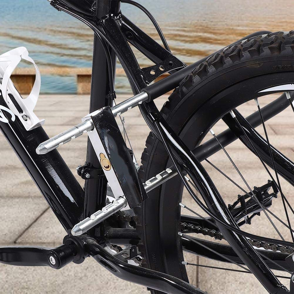 Tbest Candado de Bicicleta U,Candado en U Antirobo Acero Cerradura ...