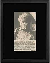 John Cooper Clarke - Ten Years In An Open Necked Shirt 1982 Article Framed and Mounted Print - 28.5x23.5cm