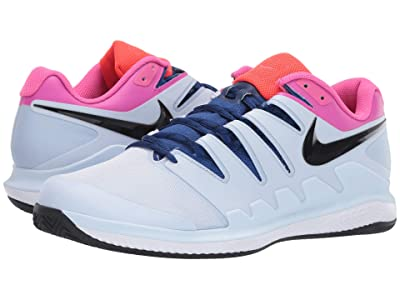 Nike Air Zoom Vapor X Clay (Half Blue/Black/White/Laser Fuchsia) Men