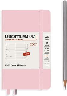 ロイヒトトゥルム 手帳 2021年 1月始まり A6 ウィークリー パウダー 361861