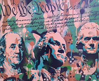 We The People by Abstract Graffiti Art Print, 12 x 10 inches